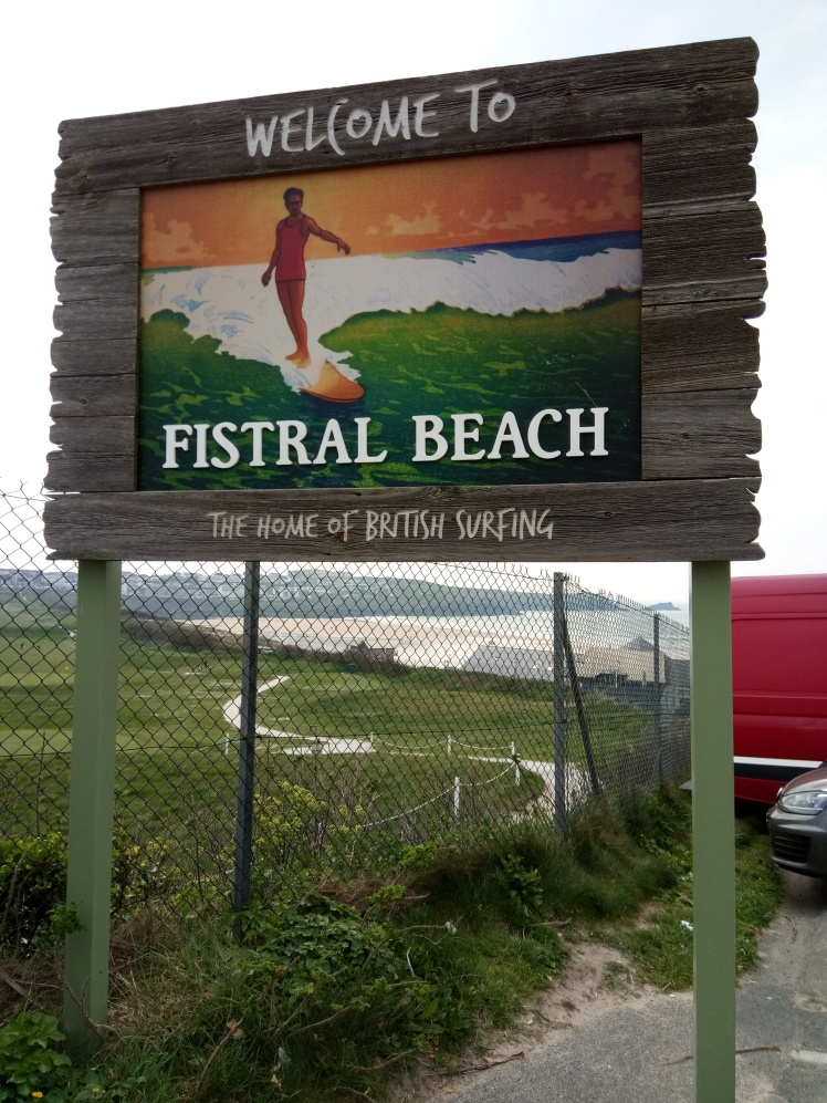 Fistral beach sign